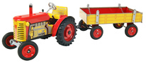 ZETOR tractor with Trailer- metal discs